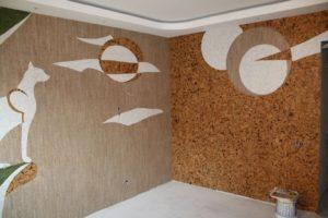 Пробковые обои для дома: листовые и рулонные варианты. Преимущества монтажа пробковых обоев