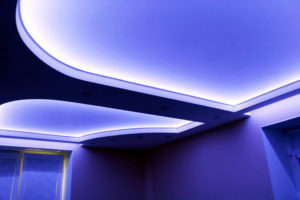 Светодиодные натяжные потолки своими руками
