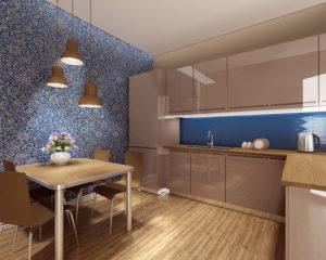 Отделка кухни стеновыми панелями
