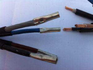 Соединение проводов и кабелей гильзами