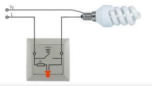 При подключении патрона пропадает свет в соседней комнате