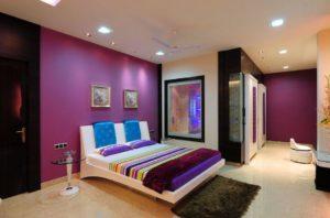 Цветовое решение в интерьере спальной комнаты