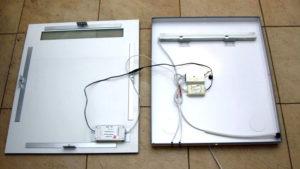 Как подключить зеркало с подсветкой от кабеля для светильника?