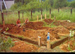 Траншея под фундамент: как выкопать