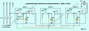 Схемы управления освещением через контакторы и магнитные пускатели