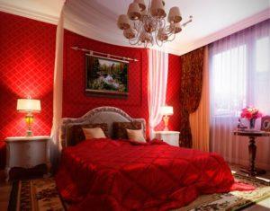 Бордовая спальня: дизайн интерьера, рекомендации по оформлению