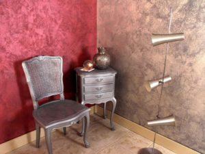 Венецианские обои в интерьере квартиры