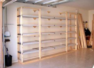 Как сделать стеллаж в гараже