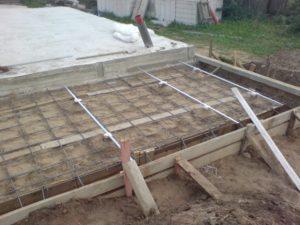 Как залить фундамент под веранду