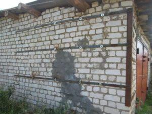 Стяжка стен дома своими руками