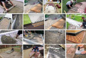 Укладка тротуарной плитки 40х40 своими руками: пошаговая инструкция