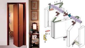 Как изготовить и установить двери-гармошки своими руками