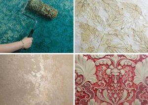 Текстурная краска для стен: особенности нанесения