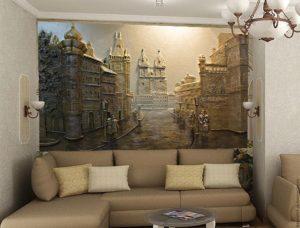 Роспись стен в дизайне интерьера
