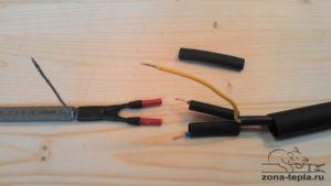 Наращивание саморегулирующегося греющего кабеля