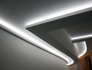 Как сделать потолок с подсветкой