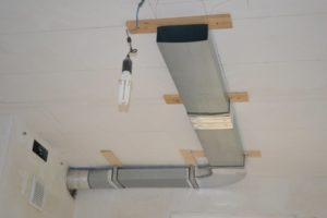 Вентиляция для вытяжки: установка