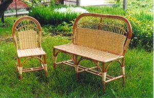 Плетеная мебель для дачного участка своими руками