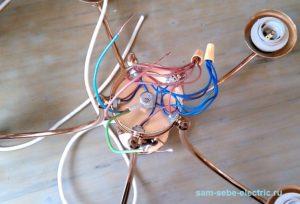 Как подключить многорожковую люстру с заземлением?