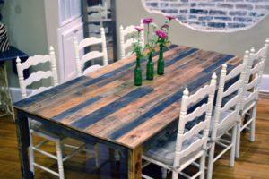 Деревянный кухонный стол своими руками