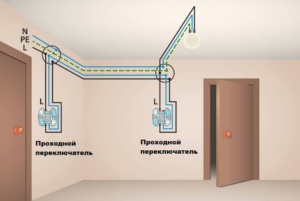 Для чего нужен проходной выключатель?