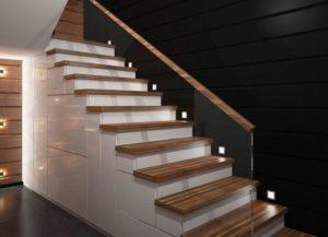 Подсветка лестницы и ступеней