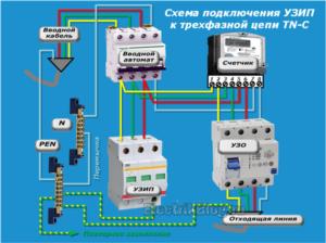 Как подключить УЗИП в однофазной и трехфзаной сети?
