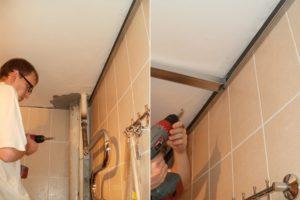 Установка стеновых панелей в ванной