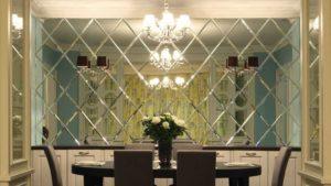 Зеркальная плитка в интерьере дома