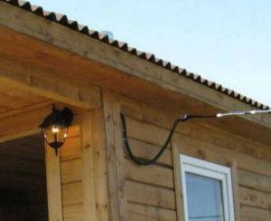 Как подключить баню к электричеству от дома?
