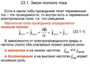 Закон полного тока простыми словами