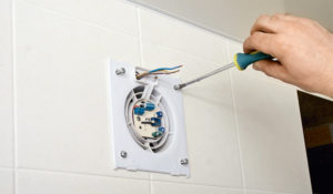 Установка и подключение вентилятора в ванной комнате