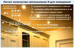 Правильный расчет количества точечных светильников на комнату