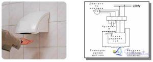 Как подключить сушилку для рук напрямую, в обход электроники?