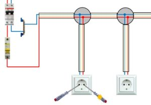 Как убрать розетку, если к ней подключена другая, которая должна работать?