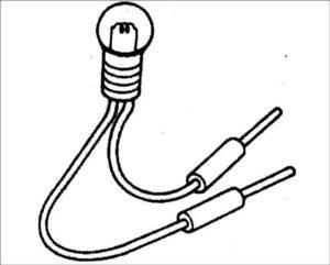 Как собрать контрольную лампу электрика?