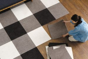 Ковровая плитка: выбор и укладка