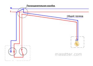 Подключение спаренных розетки и выключателя после ремонта