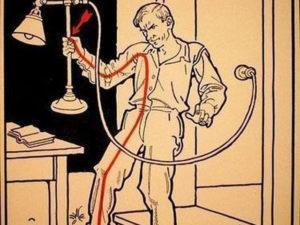 Почему вытяжка бьет током при касании?