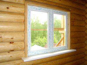 Окна в срубе: особенности установки