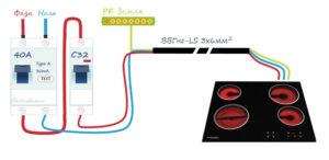 Какое сечение кабеля нужно для варочной панели мощностью 3 кВт?