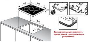 Как установить встраиваемую варочную панель в столешницу?