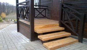 Лестница на веранду своими руками