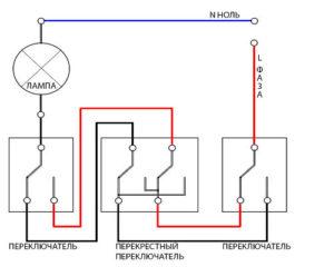 Почему проходной выключатель работает некорректно?