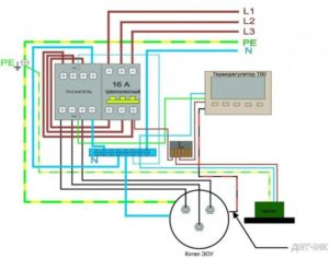 К какой фазе подключить электрокотел?
