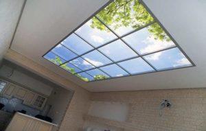 Стеклянный потолок своими руками