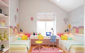 Как сделать детскую комнату для двоих