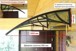 Козырек над крыльцом из поликарбоната: инструкция по монтажу