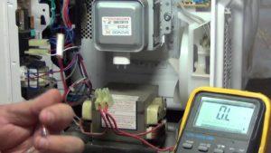 Проверка магнетрона микроволновой печи