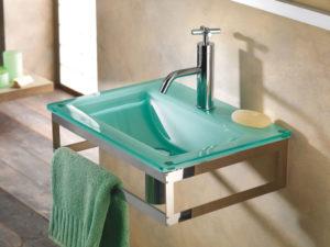 Стеклянные раковины для ванной: виды, особенности выбора и монтажа